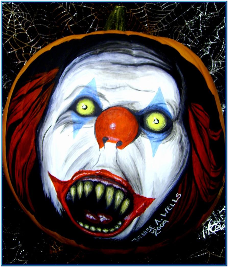 Easy Scary Pumpkin Painting Ideas