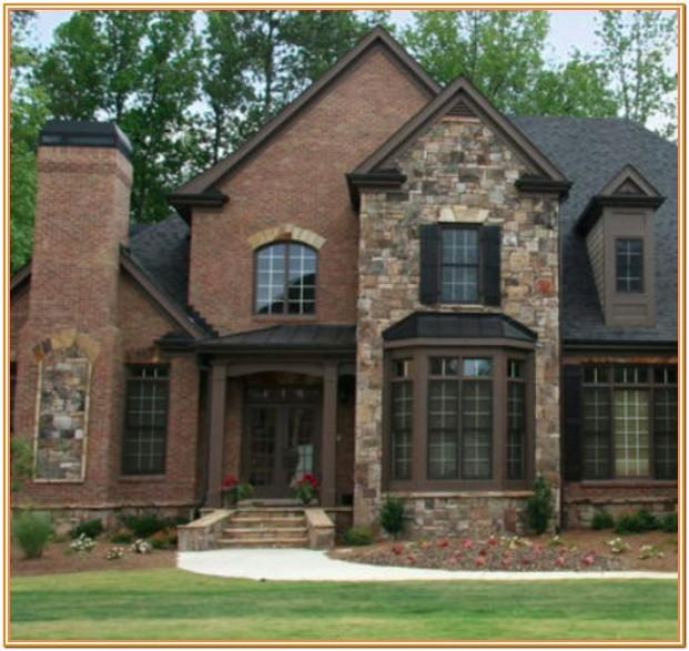 Exterior Home Color Schemes With Stone