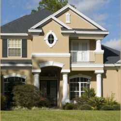 Exterior House Color Combination Ideas In India 1