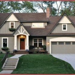 Exterior House Color Ideas With Brown Brick