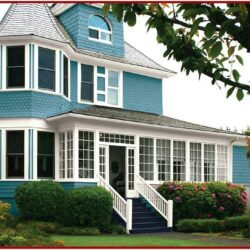 Exterior House Color Ideas With Brown Roof