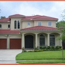 Exterior House Color Ideas With Red Roof 2