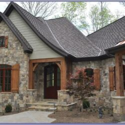 Exterior House Color Ideas With Stone