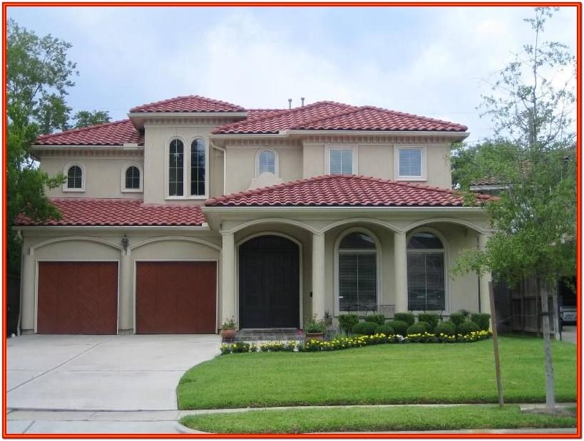 Exterior House Color Red Roof
