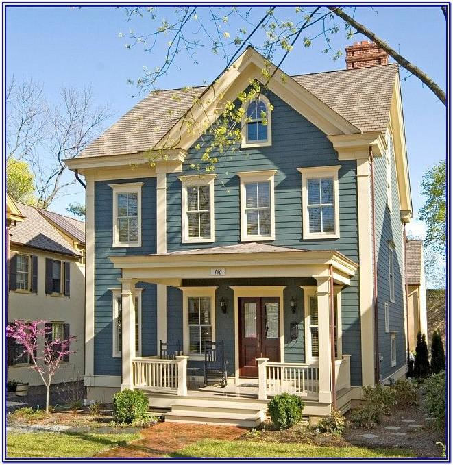 Exterior House Color Schemes Blue