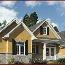Exterior House Color Schemes With Brown Roof 1
