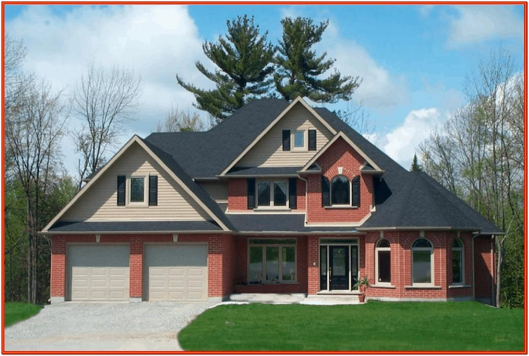 Exterior House Color With Red Brick Trim