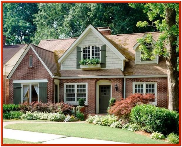 exterior house color with red brick