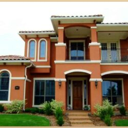 Exterior House Colour Combination India 1