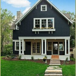 Exterior House Colour Schemes With Green Roof