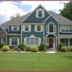 Exterior House Painting Colour Combinations 1