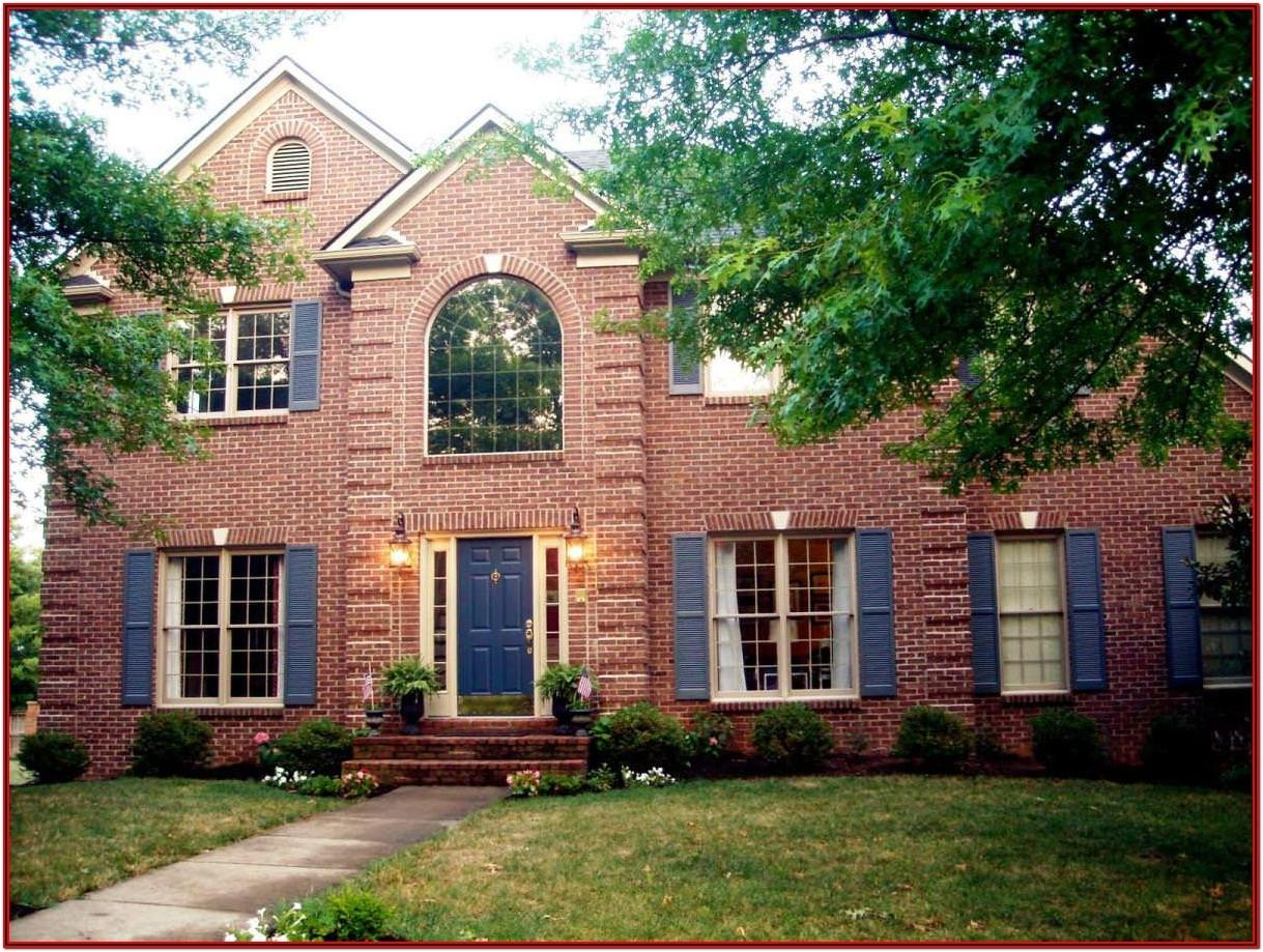 Exterior Paint Schemes With Red Brick