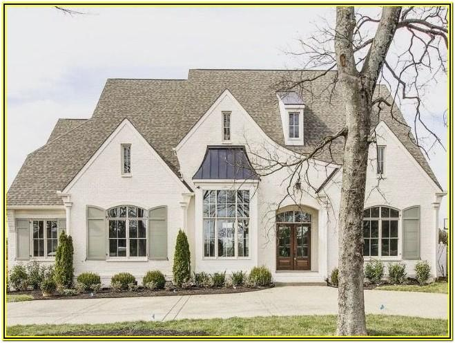 french country house exterior colors