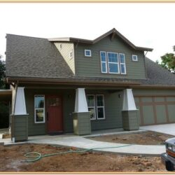 Green Exterior Home Color Schemes