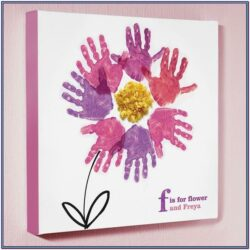 Handprint Canvas Ideas For Mothers Day
