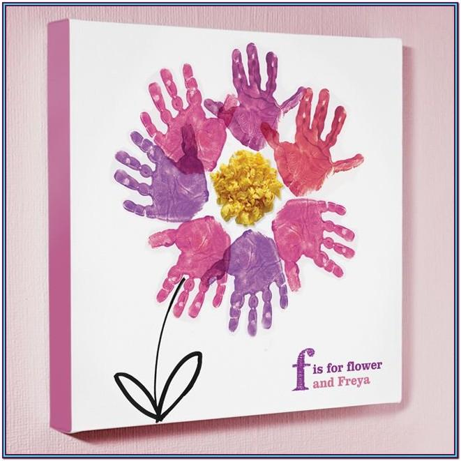 Handprint Canvas Ideas For Mother's Day