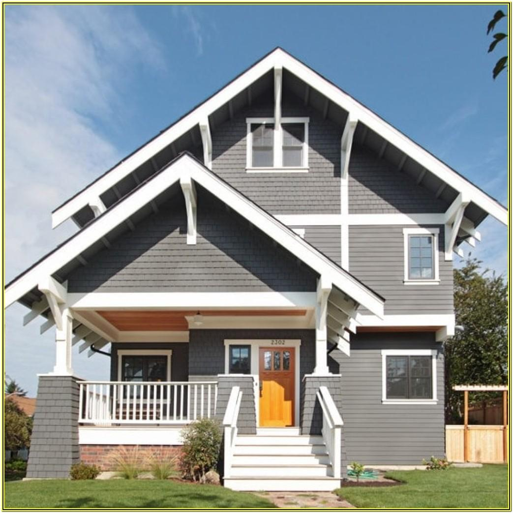 House Color Schemes Exterior Grey Roof