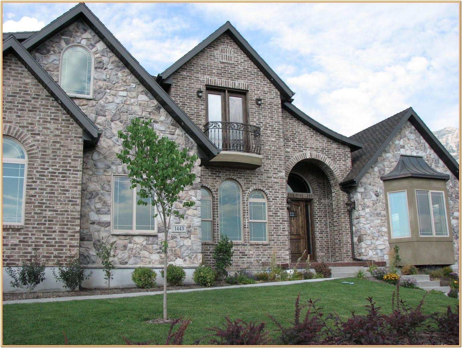 house exterior color schemes with stone