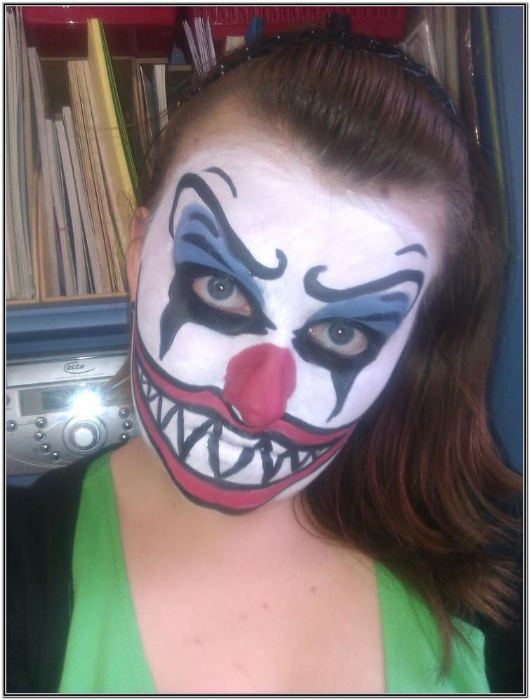 Kid Clown Face Paint Ideas