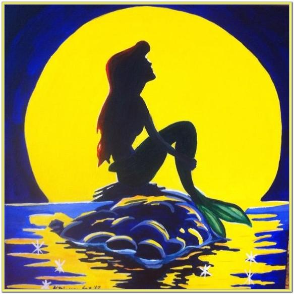 little mermaid painting ideas