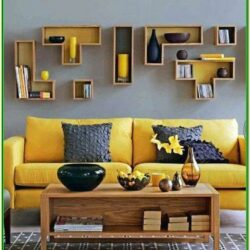 Mustard Colour Living Room Accessories
