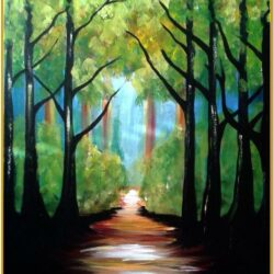 Nature Canvas Painting Ideas