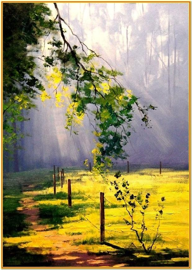 Nature Painting Ideas Easy