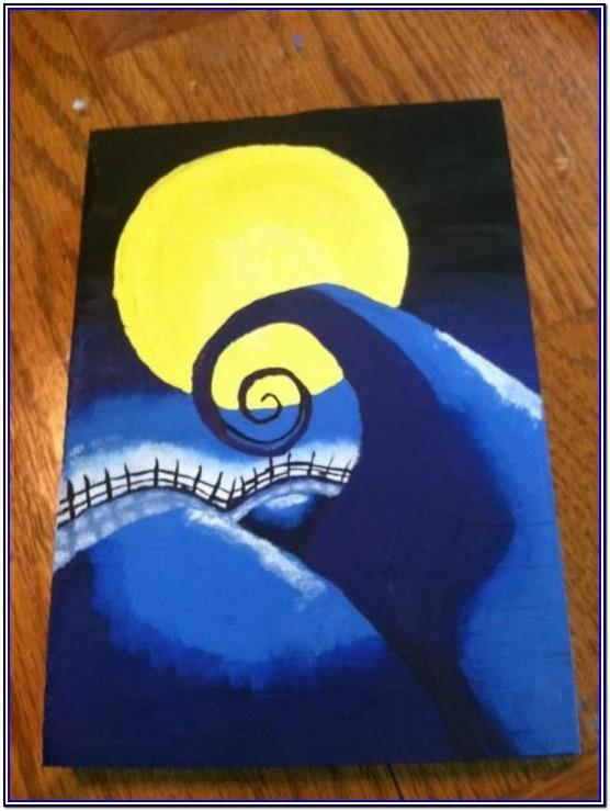 Nightmare Before Christmas Canvas Painting Ideas