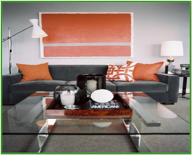 Orange And Grey Living Room Accessories