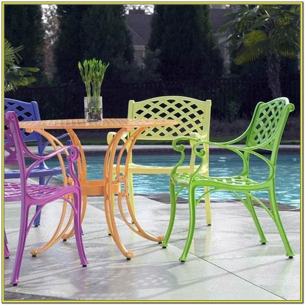 outdoor metal furniture paint colors