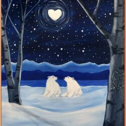 Paint Nite Ideas Winter