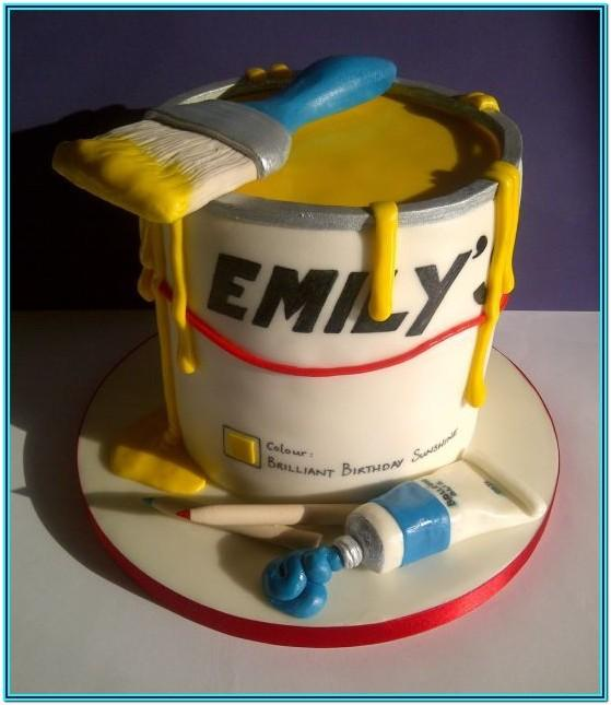 Paint Pot Cake Ideas