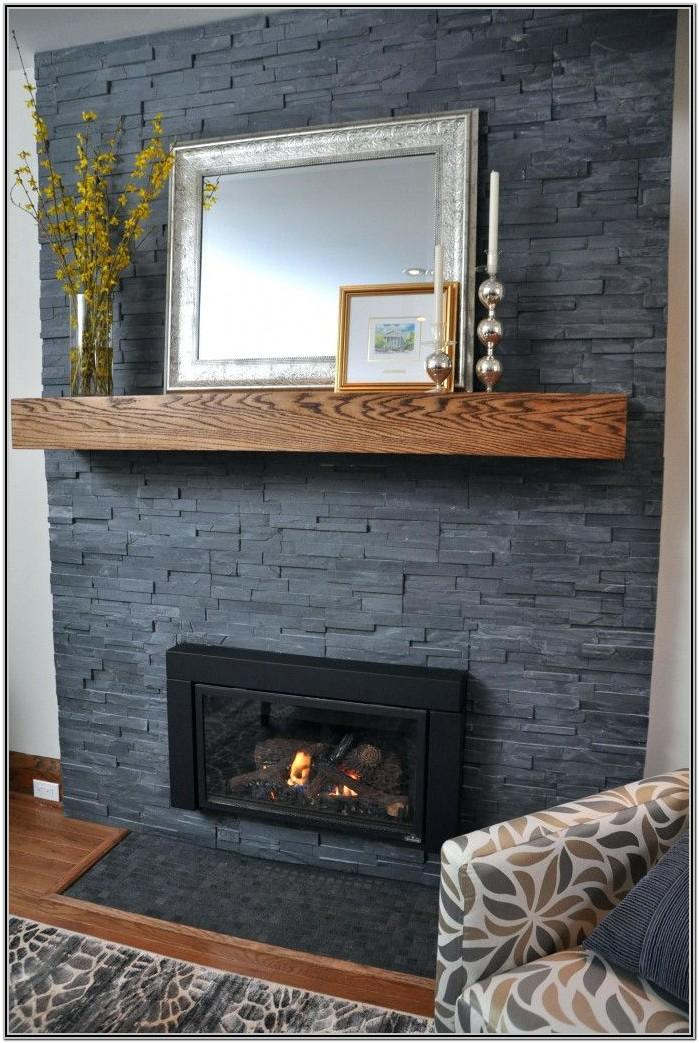 Painted Brick Fireplace Ideas Gray