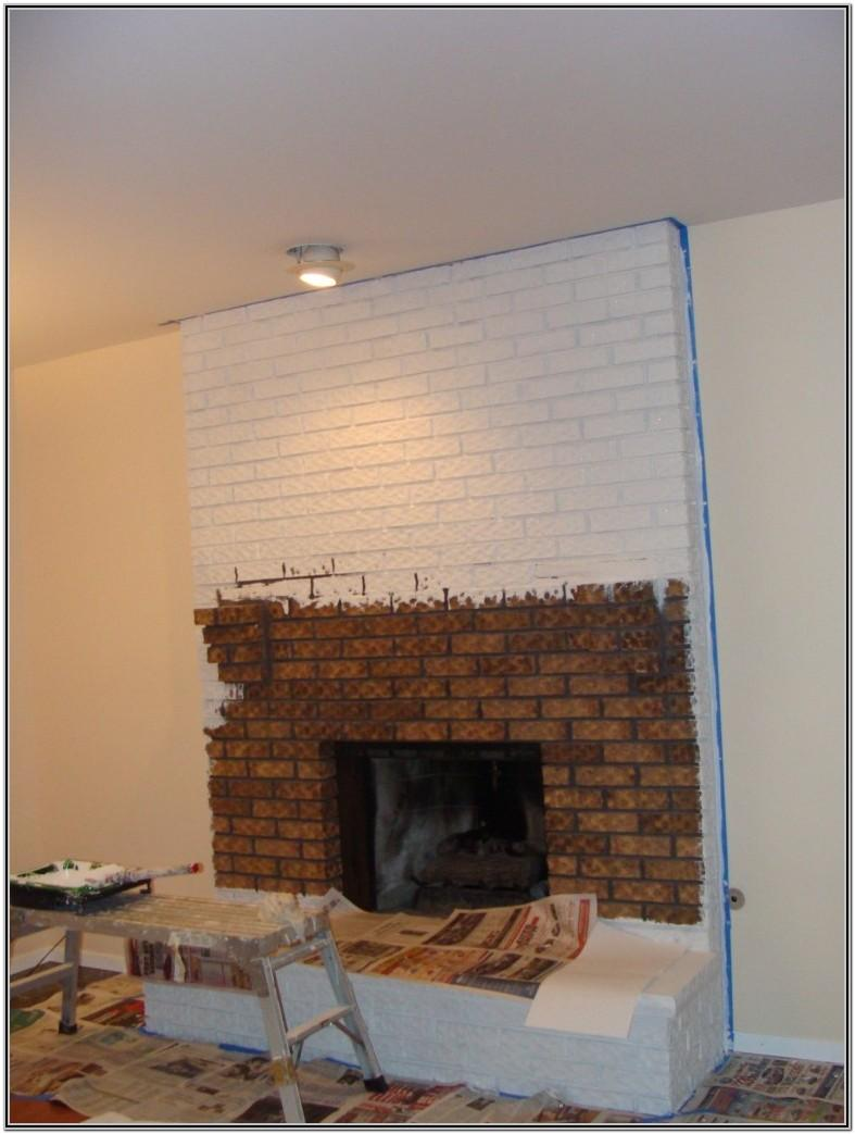 Painted Brick Fireplace Ideas