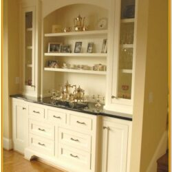 Painted Built In Hutch Ideas