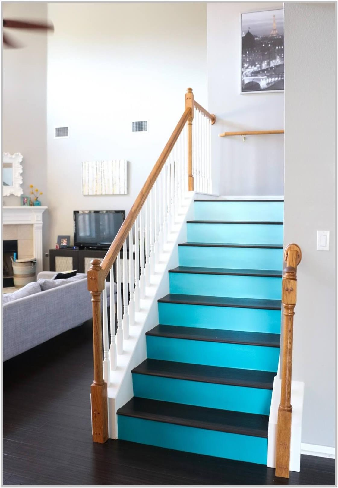 Painted Stairs Ideas Photos