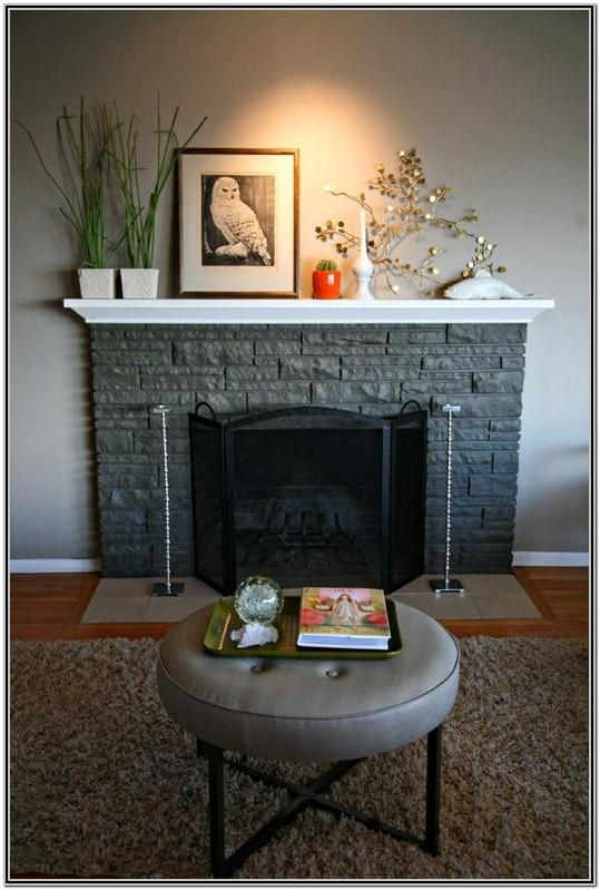 Painted Stone Fireplace Ideas