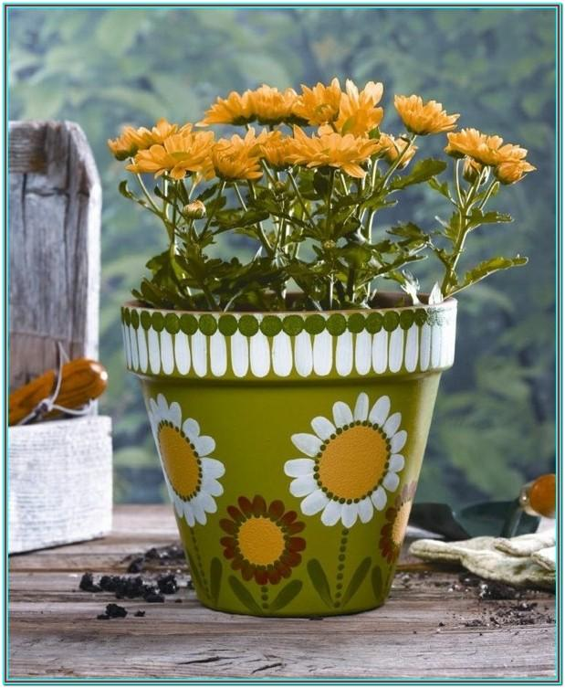 Painting Clay Flower Pots Ideas