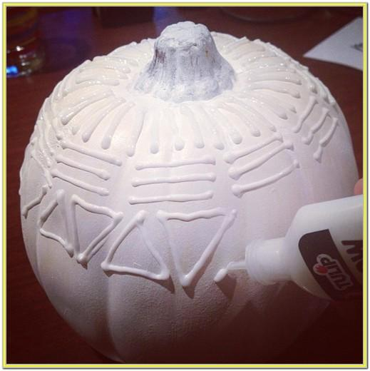 Puffy Paint Pumpkin Ideas