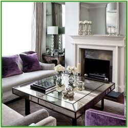 Purple And Silver Living Room Decor