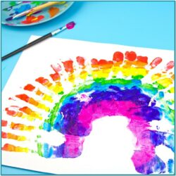 Rainbow Painting Ideas For Toddlers