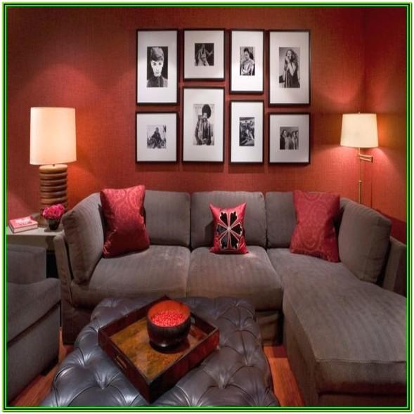 Red And Brown Living Room Decor