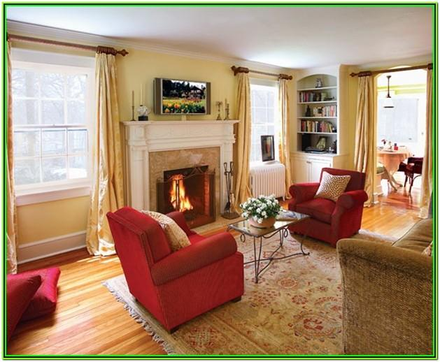 Red And Gold Living Room Decor