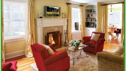 Red Black And Gold Living Room Decor
