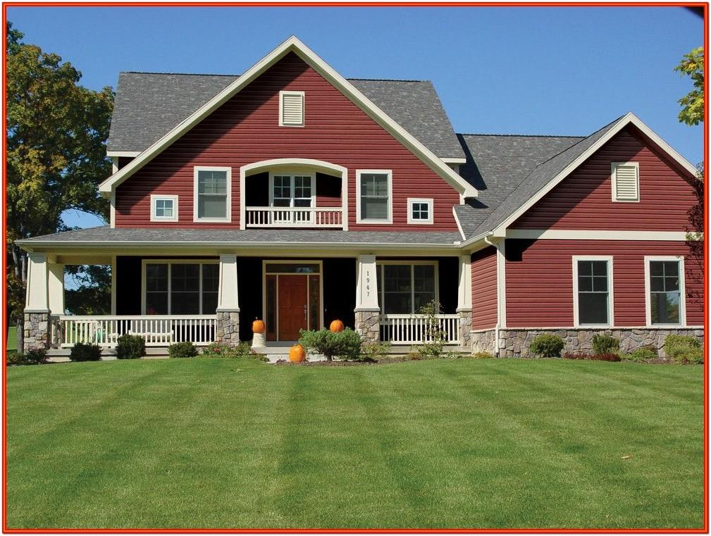 Red Exterior Home Colors