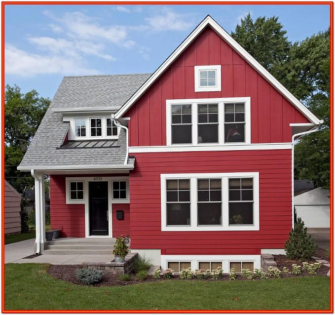 red exterior house paint colors
