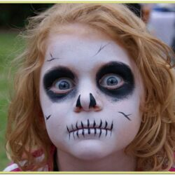 Scary Face Paint Ideas Easy