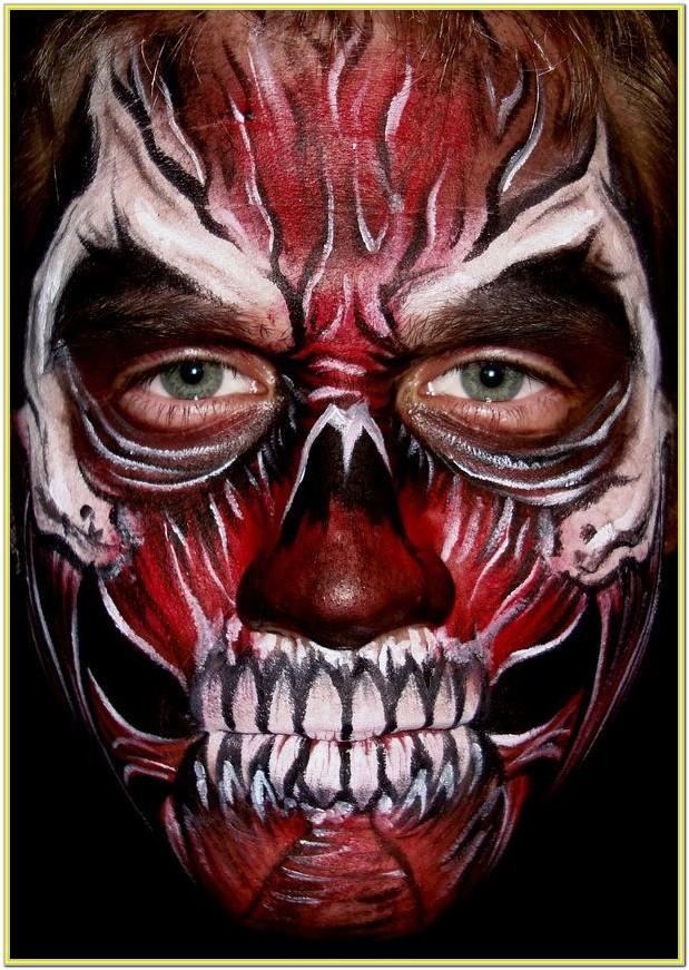 Scary Face Paint Images