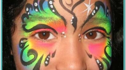 Simple Butterfly Face Painting Ideas