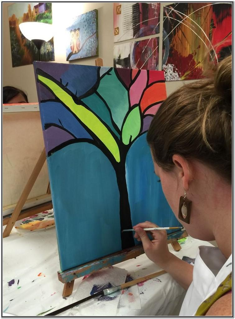 Sip And Paint Ideas Step By Step